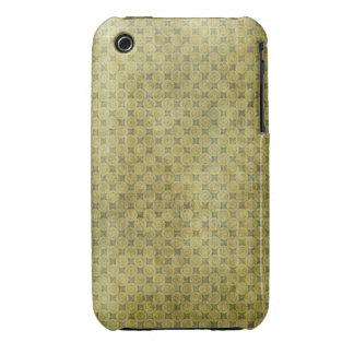 Modelo retro verde sucio Case-Mate iPhone 3 cárcasas