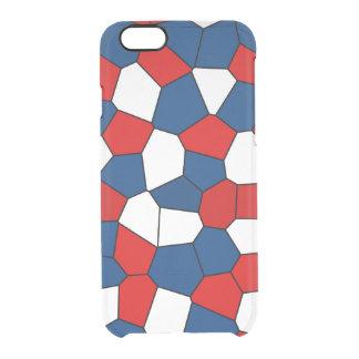 Modelo rojo, blanco y azul funda transparente para iPhone 6/6S