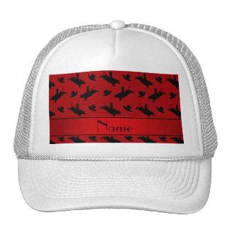Modelo rojo conocido personalizado del montar a gorra