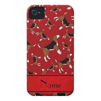 Modelo rojo conocido personalizado del perro del carcasa para iPhone 4 de Case-Mate