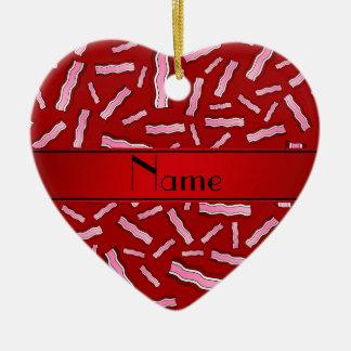 Modelo rojo conocido personalizado del tocino adorno de cerámica en forma de corazón