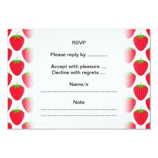 Modelo rojo de la fresa invitación 8,9 x 12,7 cm