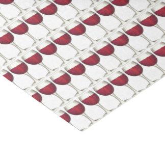 Modelo rojo de la impresión del bar de vinos de la papel de seda
