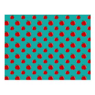 Modelo rojo de la manzana de la turquesa postal