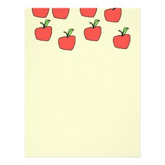 Modelo rojo de la manzana, en la crema folleto 21,6 x 28 cm