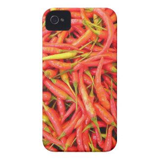 Modelo rojo de los chiles funda para iPhone 4