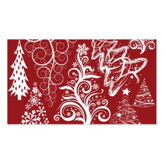 Modelo rojo de Navidad del árbol de navidad del dí Tarjetas De Visita
