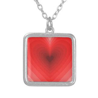 Modelo rojo del corazón del infinito colgante cuadrado