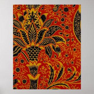 Modelo rojo del papel pintado de la alfombra impresiones