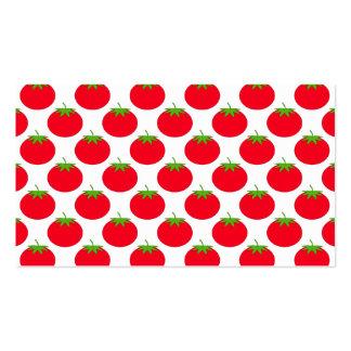 Modelo rojo del tomate tarjetas de visita