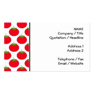 Modelo rojo del tomate tarjeta de visita