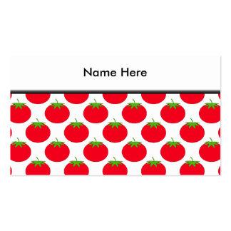 Modelo rojo del tomate plantillas de tarjeta de negocio