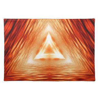 Modelo rojo del triángulo salvamanteles