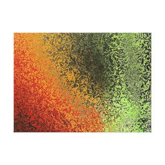 Modelo rojo del verde y del oro impresiones en lienzo estiradas