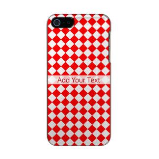 Modelo rojo y blanco del diamante por carcasa de iphone 5 incipio feather shine