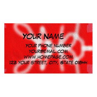Modelo rojo y blanco tarjetas de visita