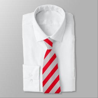 Modelo rojo y gris brillante de la raya corbatas personalizadas