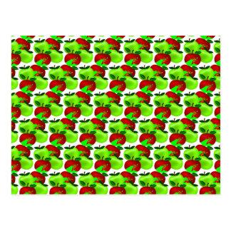 Modelo rojo y verde de la muestra de la manzana postal