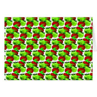 Modelo rojo y verde de la muestra de la manzana tarjetón