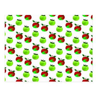 Modelo rojo y verde de la muestra de las manzanas postal