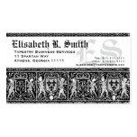 Modelo romántico del bordado medieval elegante tarjetas de visita