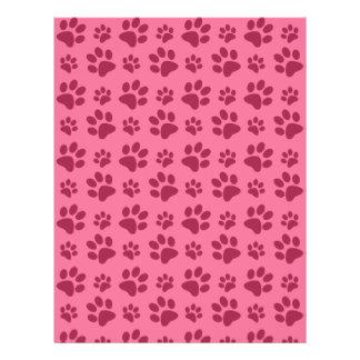 Modelo rosa claro de la impresión de la pata del folleto 21,6 x 28 cm