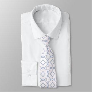 Modelo rosa claro y blanco corbata personalizada