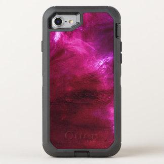 Modelo rosado abstracto moderno funda OtterBox defender para iPhone 8/7