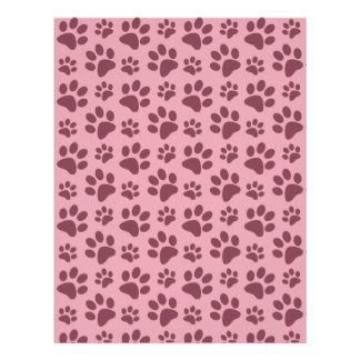 Modelo rosado bonito de la impresión de la pata de flyer personalizado