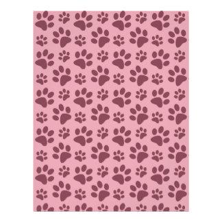Modelo rosado bonito de la impresión de la pata folleto 21,6 x 28 cm