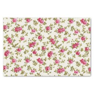 Modelo rosado bonito femenino de la impresión papel de seda