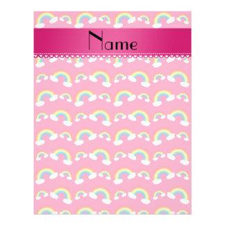 Modelo rosado conocido personalizado de los arco i tarjetas informativas