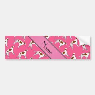 Modelo rosado conocido personalizado del perro del pegatina para coche
