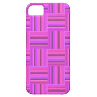Modelo rosado de la armadura de las rayas funda para iPhone SE/5/5s