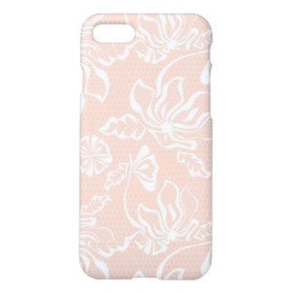 Modelo rosado de la capa del cordón de la arena funda para iPhone 7