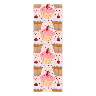 Modelo rosado de la magdalena tarjetas de visita mini