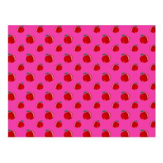 Modelo rosado de la manzana postal