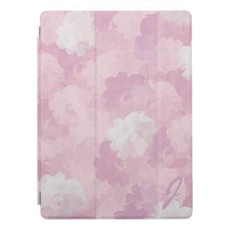 Modelo rosado de los rosas de la acuarela con cubierta para iPad pro