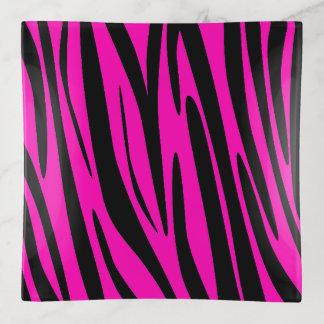 Modelo rosado de neón de la piel de la cebra