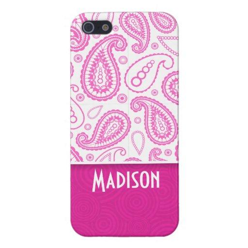 Modelo rosado de Paisley iPhone 5 Funda