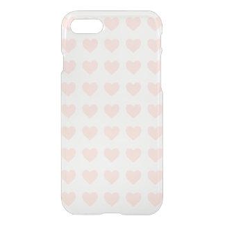 Modelo rosado del corazón funda para iPhone 7