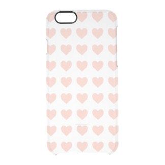 Modelo rosado del corazón funda transparente para iPhone 6/6S