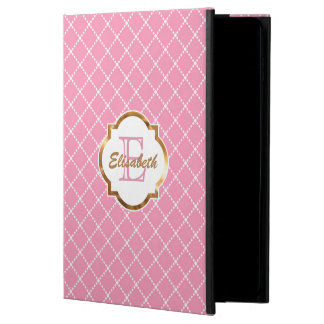 Modelo rosado del diamante, falsa hoja de oro, funda para iPad air 2