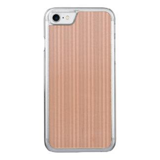 Modelo rosado dulce de las rayas verticales funda para iPhone 7