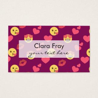 Modelo rosado dulce lindo del beso de los tarjeta de negocios