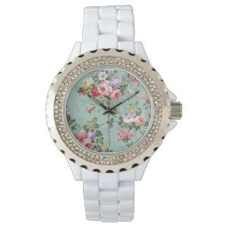 Modelo rosado elegante de los rosas amarillos del relojes de mano