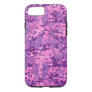 Modelo rosado femenino de Digitaces Camo Funda iPhone 7