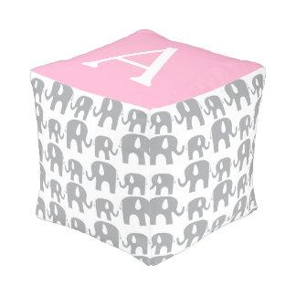 Modelo rosado gris del elefante del monograma