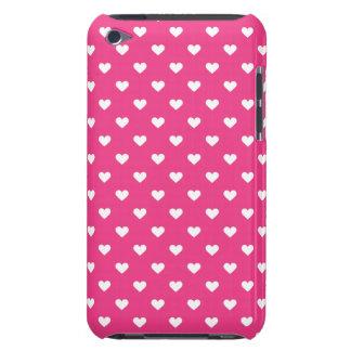 Modelo rosado lindo de los corazones funda iPod