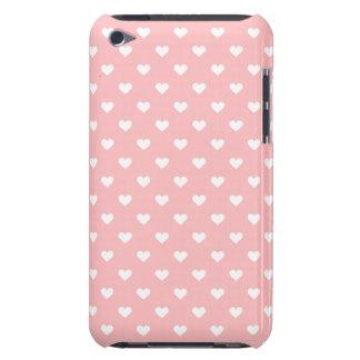 Modelo rosado lindo del corazón cubierta para iPod de barely there